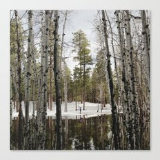 Snowy Forest Grammer Canvas Print