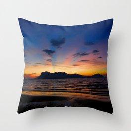 Sunset in Borneo Throw Pillow