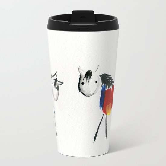 Little Rainbow Ponies Metal Travel Mug