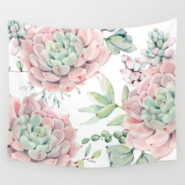 Pink Succulents by Nature Magick Wall Tapestry