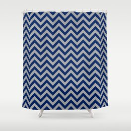 Chevron Pattern - navy and grey - more colors Shower Curtain