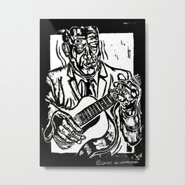 Jazz Guitar Print Metal Print