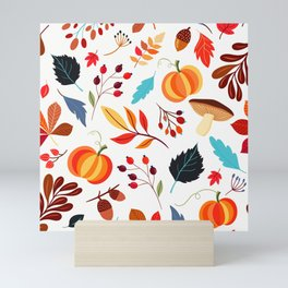 Autumn Pattern Mini Art Print