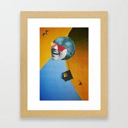 Collapsed Head Framed Art Print