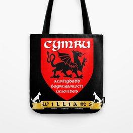 Williams Family Cymru/Wales Coat of Arms Tote Bag