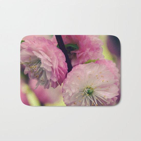 Pretty pink Cherry Bath Mat