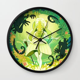 A World of Green Wall Clock