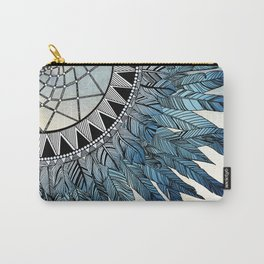 blue feather dreamcatcher Carry-All Pouch