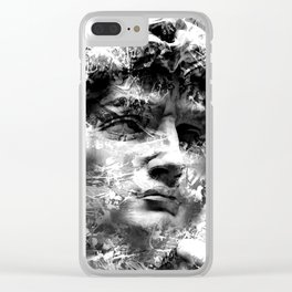 DAVID (BLACK & WHITE VERSION) Clear iPhone Case