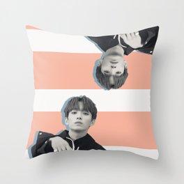 Double Deeks Throw Pillow