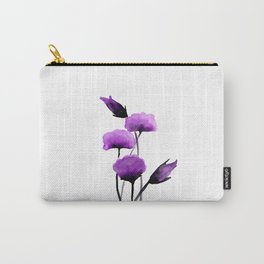 Purple watercolor flowers no.01 Carry-All Pouch