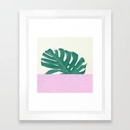 Monstera Dip Framed Art Print