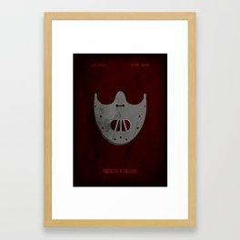 The Silence of the Lambs - Minimal Framed Art Print