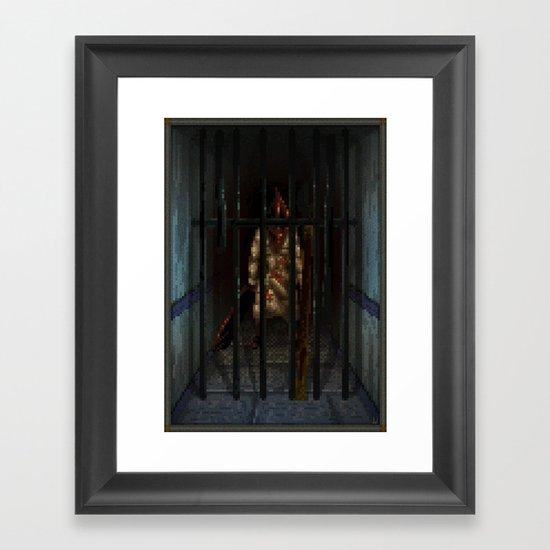 Pixel Art series 6 : Pyramid Framed Art Print