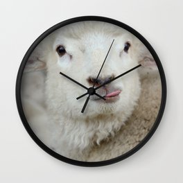 Tongue out Sheep Child Wall Clock