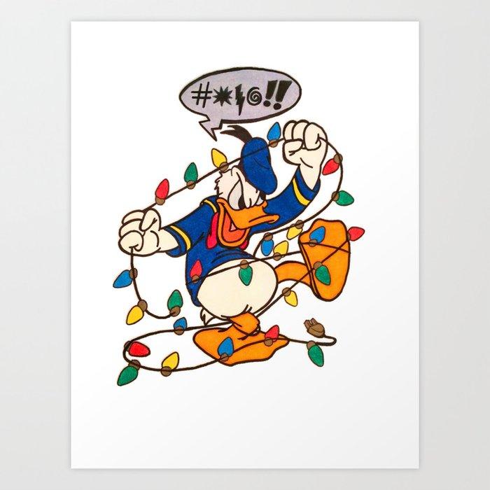 Donald Duck Christmas.Christmas Donaldduck Art Print By Killerdesigns