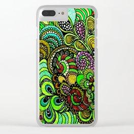 Zen Doodle Design Clear iPhone Case
