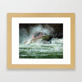 Jet Boat Framed Art Print