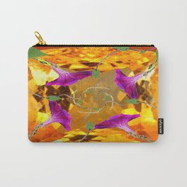 Sherry Topaz Gem & Purple Morning Glories Design Carry-All Pouch