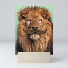 BEARDED LION Mini Art Print