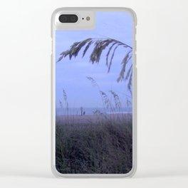 Sea Oats at Fernandina Beach FL Clear iPhone Case