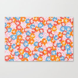 Morning Glory - Pink Multi Canvas Print