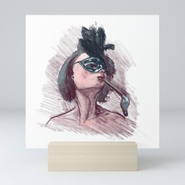 Brush seduction Mini Art Print