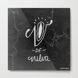 V is for Vulva Metal Print