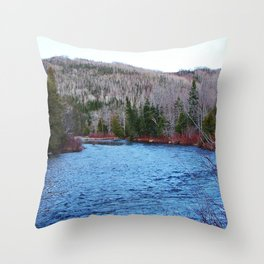 River in Nature Throw Pillow
