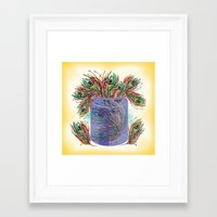 feathers Framed Art Prints featuring Feathers by famenxt