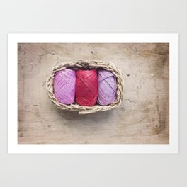 Raffia colours Art Print
