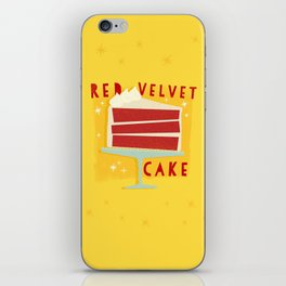 All American Classic Red Velvet Cake iPhone Skin