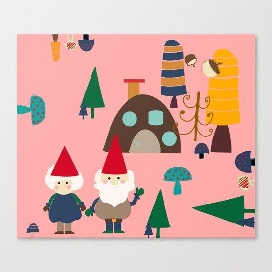 gnome pink Canvas Print
