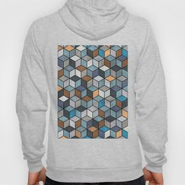 Colorful Concrete Cubes - Blue, Grey, Brown Hoody