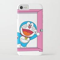 doraemon iPhone & iPod Cases featuring DORAEMON OPEN the Magic Door #4 by Timeless-Id