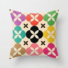 Geometric Flower #2 Throw Pillow
