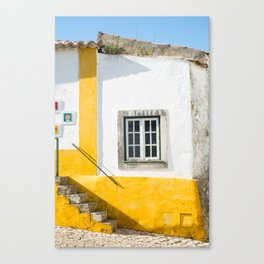 Yellow and White House, Óbidos Canvas Print