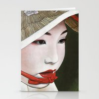 geisha Stationery Cards featuring Geisha by Andrea Maiorana