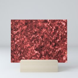 Abalone Shell   Paua Shell   Red Tint Mini Art Print