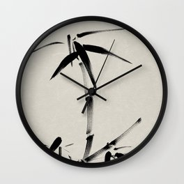 Japanese brush painting - Bamboo & Zen Wall Clock