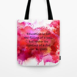 Lighting of a Fire Tote Bag