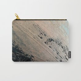 Landslide: a pretty, minimal abstract piece in pink, and blues Carry-All Pouch