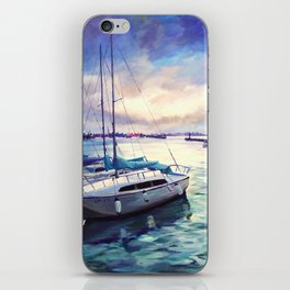 The cold blue iPhone Skin