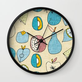 Mod Fruit Pearl Blue Wall Clock