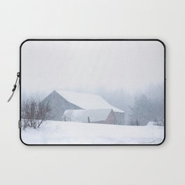 Barns in a snow squall, Ontario, Canada Laptop Sleeve