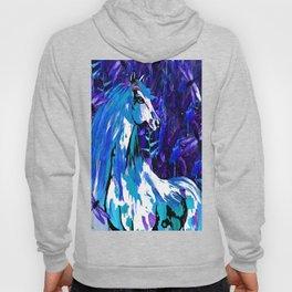 HORSE INDIGO BLUE AND DRAGONFLY NIGHTS Hoody