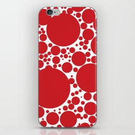 Red Polka Dot Pattern iPhone Skin