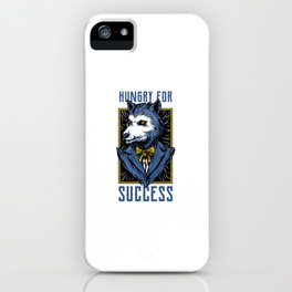 Wolf in Suit Hungry for success iPhone Case