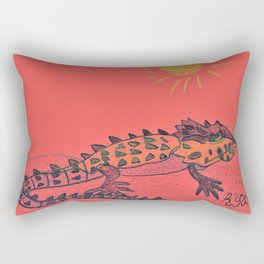 Crocodile Skink Rectangular Pillow