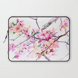 Cherry Blossom pink floral spring design cherry blossom decor Laptop Sleeve